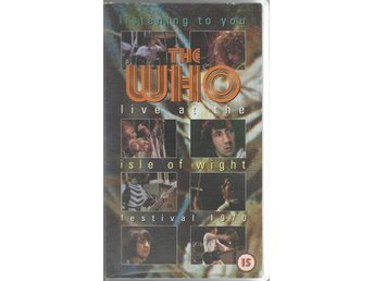 THE WHO - LISTENING TO YOU: LIVE AT ISLE OF WIGHT 1970 (VHS)
