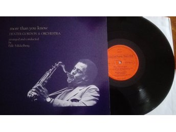 DEXTER GORDON MORE THAN YOU KNOW Mikkelborg vinyl LP jazz STEEPLECHASE SCS-1030