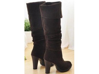 Dam Boots Footwear Heels Shoes P393 Size 34-41 Brown 39