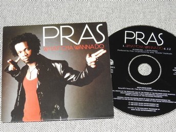 Pras - What'cha Wanna do CD Singel PCD 1086 (pappfodral)