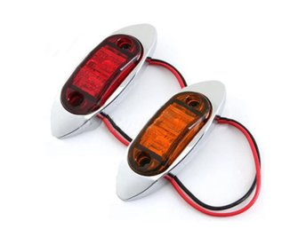 12V LED Side Mark Light Trailer Truck Clearance Lamp DOT&...