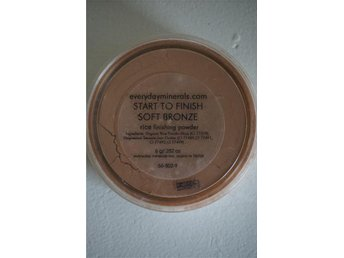 Everyday Minerals Start to Finish Soft Bronze Rice finishing powder. OBS! 8g