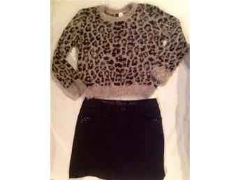 ESPRIT 36 svart jeanskjol kjol leopard lurvig tröja hm small - Trensum - ESPRIT 36 svart jeanskjol kjol leopard lurvig tröja hm small - Trensum