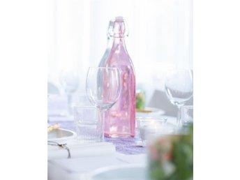 Glasflaska Rosa Vattenkaraff Bröllop Dukning - Linköping - Glasflaska Rosa Vattenkaraff Bröllop Dukning - Linköping