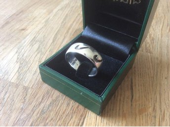"Handgjord design ring ""NIKE"" SILVER PSCL 925 - Peter Stone Jewelry / 21mm"