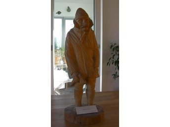 Wooden Sculpture from Hungarian artist Márta András 54 cm tall