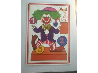 Brevpapper clown 80-tal