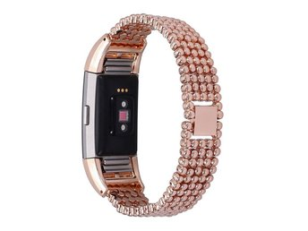 Women Replacement Stainless Steel Wrist Band Strap for Fitbit Charge 2 Beaded
