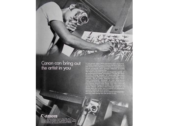 CANON - AUTO ZOOM 814 BRING OUT THE ARTIST IN YOU, TIDNINGSANNONS Retro 1969