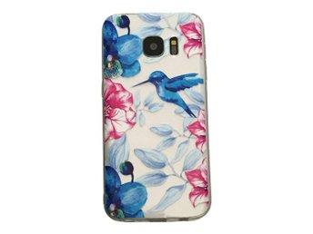 Samsung Galaxy S7 EDGE Kolibri och blommor Fågel - Henna - Mjölby - Samsung Galaxy S7 EDGE Kolibri och blommor Fågel - Henna - Mjölby