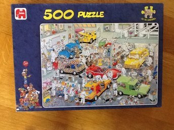 500 bitar , med rolig bild och komplett Jan van Haasteren pussel - Eslöv - 500 bitar , med rolig bild och komplett Jan van Haasteren pussel - Eslöv