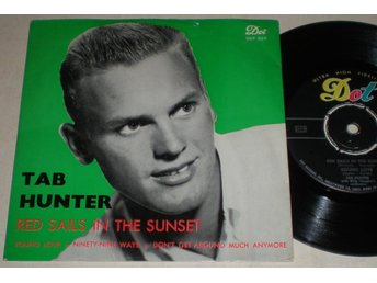 Tab Hunter EP/PS Red sails in the sunset 1959