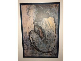 Blue Woman Picasso (Framed Laminated Print)