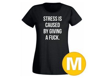 T-shirt Cause Of Stress Svart Dam tshirt M