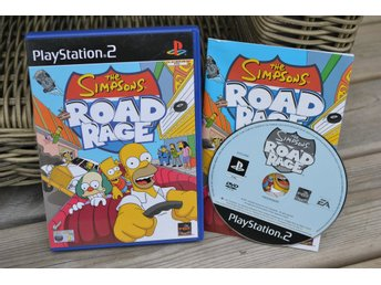 The Simpsons Road Rage PS2 Playstation 2 Komplett Fint Skick