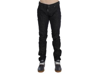 Dsquared² - Black Cotton Stretch Denim Slim jeans