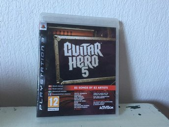 Svensk sålt Guitar Hero 5 Med manual Ps3