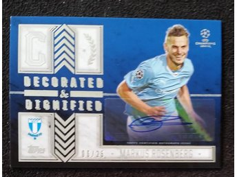 2016 Topps Showcase Decorated&Dignified 06/25 Markus Rosenberg Autograf