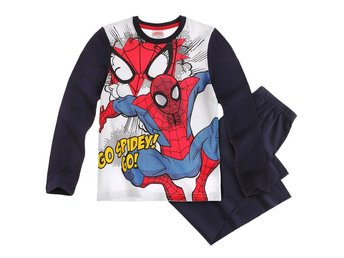 Spiderman/Spindelmannen Pyjamas, vit/blå 128 cl