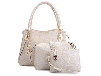 Women 3pcs Tote Bag PU Leather Handbag Purse Bags Set - Boras - Women 3pcs Tote Bag PU Leather Handbag Purse Bags Set - Boras