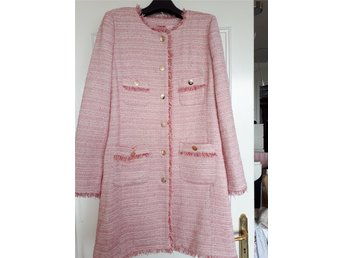 Veronica Virta rosa tweed kappa stlk L - Exclusiv!
