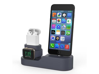 AhaStyle 3i1 Silikon Dockningstation AirPods Apple Watch iPhone