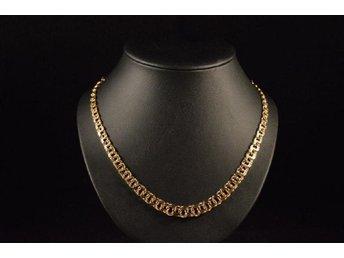 18 karats Guld halsband halskedja 18K Bismarck .. (338967368) ᐈ Köp ... 8bd102ee0d40f