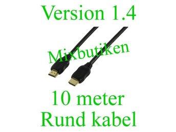 10m HDMI-kabel version 1.4 1080p. 10 meter guldpläterad High Speed m. Ethernet - Forsbacka - 10m HDMI-kabel version 1.4 1080p. 10 meter guldpläterad High Speed m. Ethernet - Forsbacka