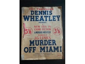Murder off Miami by Dennis Wheatley, Crime Fiction 1936
