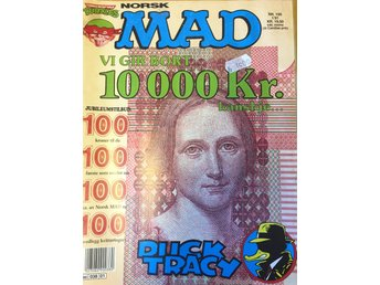 MAD Norsk  Nr 100 1991 - Fint skick!