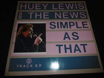 "Huey Lewis & The News - Simple as that - 12""- 1987"