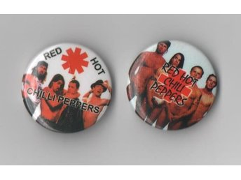 RED HOT CHILI PEPPERS 2 st olika (pin/knapp/badge) pins
