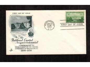 National Capital Sesquicentennial Issu FDC 1950