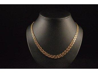 18 karats Guld halsband halskedja 18K Bismarck .. (338967368) ᐈ Köp ... ca83300469a5d