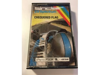 Chequered Flag till Sinclair ZX Spectrum av Psion Ltd 1983 - kassett