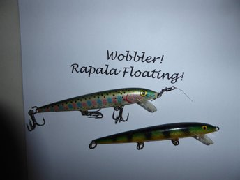 Rapala Floating Wobbler. 2st.