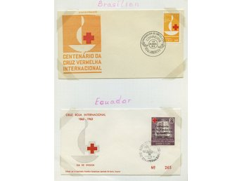 LOT T3618 / RED CROSS - RÖDA KORSET  / SYDAMERIKA / TVÅ ILLUSTRERADE  BREV.