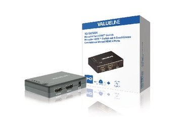 Valueline 4-Port HDMI Switch Svart