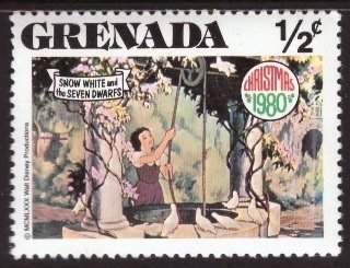 Disney, Grenada, 1/2-cent, Snow White, Scott 1021