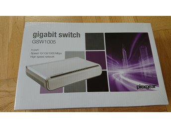 Plexgear GSW1005 5-portars gigabit-switch NY!