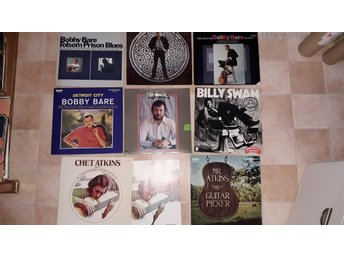 BOBBY BARE Billy Swan CHET ATKINS 8st LP - MINT-skick Country 60-70-tal