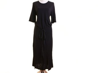 NY, Filippa K, S, Klänning, dam, Navy, Double Wrap Jersey Dress, ord pris 1900