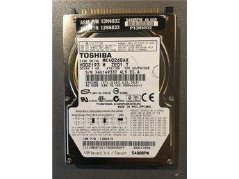 Toshiba IDE Hårddisk 40GB Formaterad 5400RPM - Linköping - Toshiba IDE Hårddisk 40GB Formaterad 5400RPM - Linköping