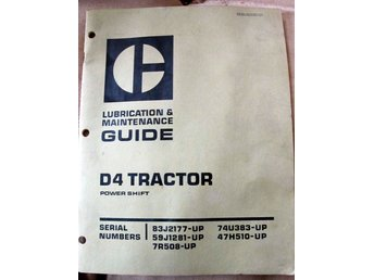 Caterpillar Lubrication&Maintenance Guide D4 Tractor Power Shift