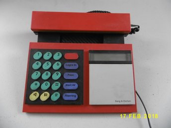 BEOCOM 2000 Red. Bang & Olufsen Telefon 1986. Made in Denmark. Med Dansk Manual