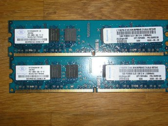 2GB RAM MINNE NANYA 2X1GB PC2-5300 -555-12