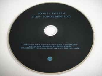 DANIEL ROSSEN Silent song PROMO CD SINGEL GRIZZLY BEAR DEPARTMENT OF EAGLES