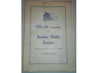 Program junior moto-cross 1957 i Jeppshoka Blekinge