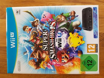 Super Smash Bros for Wii U - Box med GC Controller Adapter