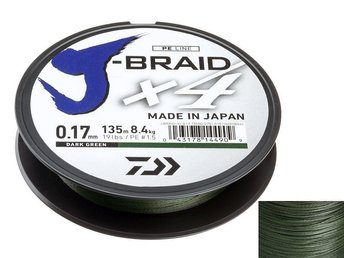 DAIWA J-Braid X4 135m Dark Green 0,13mm 12741-013 - Bielsko-biala - DAIWA J-Braid X4 135m Dark Green 0,13mm 12741-013 - Bielsko-biala